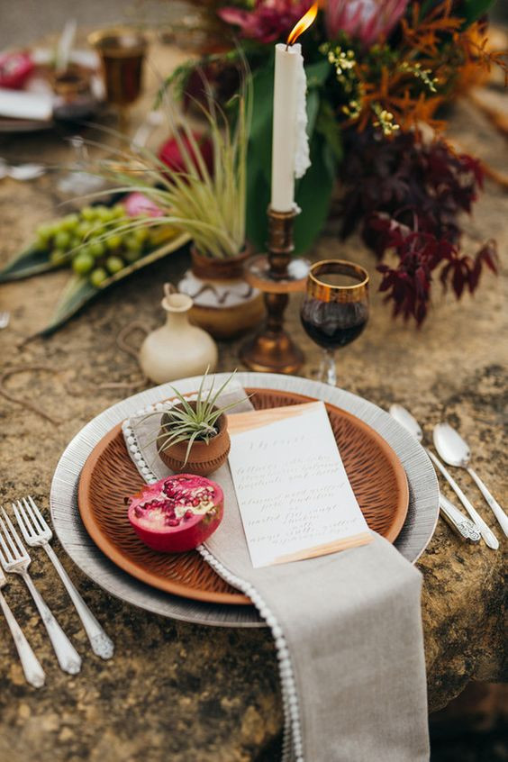 autumn wedding table setting