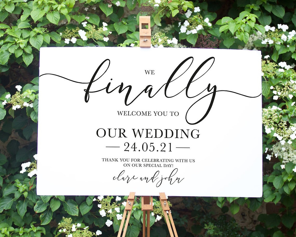 chic Wedding Welcome Sign Ideas on etsy