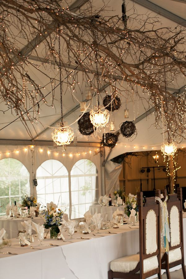 autumn wedding fairy lights