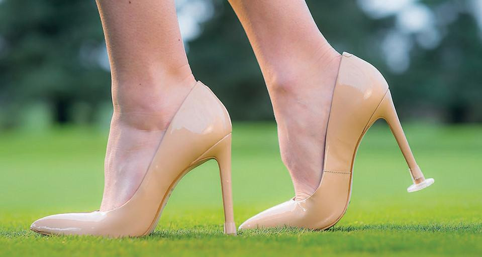 clean heels on wedding day
