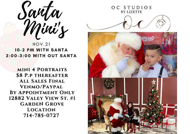 Santa Mini's Portraits with OC Studios by Lizette