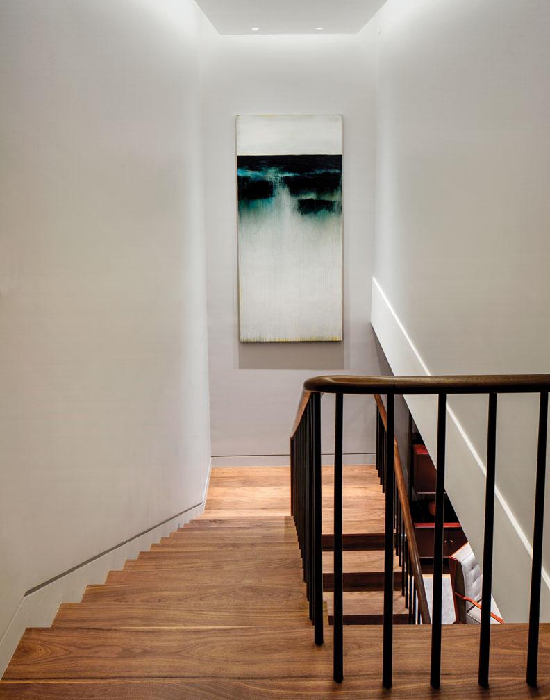 Stairway-Turned-Art Gallery