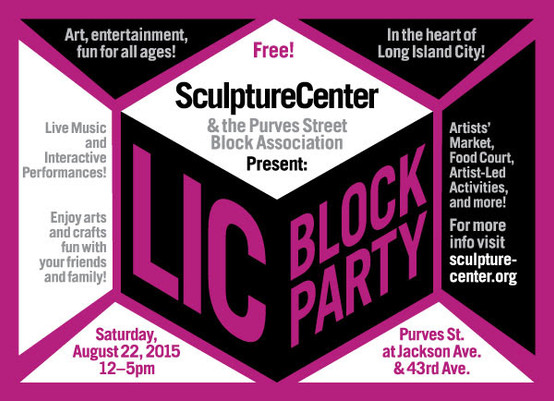 Please join THE MILL at SculptureCenter's LIC Block Party
