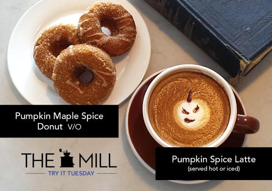 Try It Tuesday: Pumpkin Spice Latte + Pumpkin Maple Spice Donut