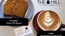 Try It Tuesday: Latte with Sweetened Condensed Milk + Pumpkin Olive Oil Bread