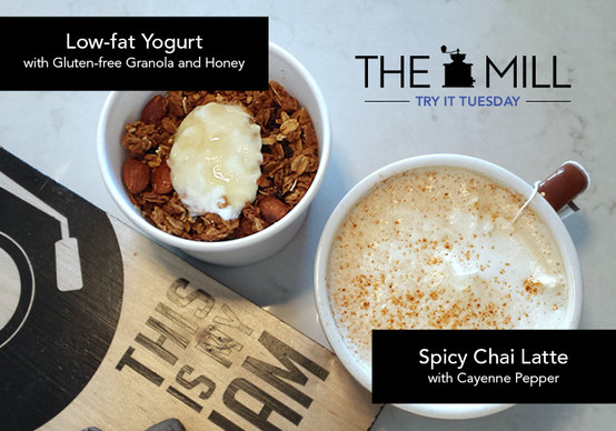Try It Tuesday: Spicy Chai Latte and Low-fat Yogurt with Gluten-free Granola
