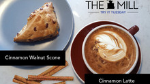 Try It Tuesday: Cinnamon Walnut Scone + Cinnamon Latte
