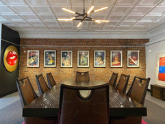 Mezzanine Gallery / Conference Room featuring The Connor Brothers and our incredible chandelier