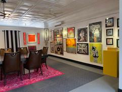 Mezzanine Gallery / Conference Room with British artist Tim Fishlock light boxes illuminated