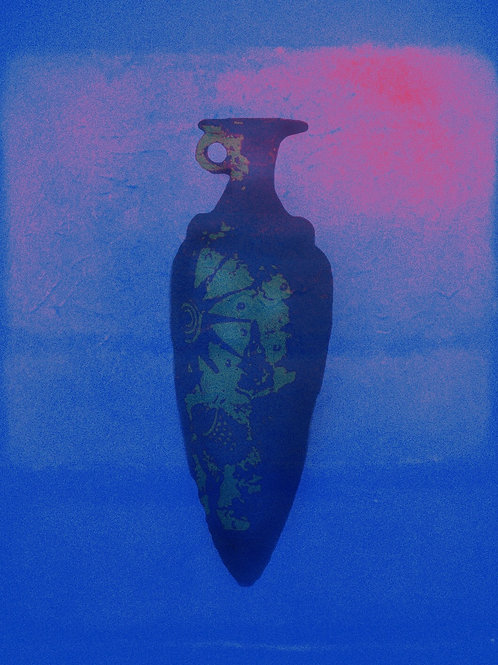 """Vessel Blue and Pink 19""""x 24"""""""