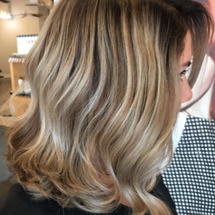 Partial balayage, root smudge, haircut, blowdry and style.   Leilani Artistry Studio - Coral Springs, Florida   Broward County's best hair and makeup salon.