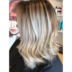 Partial balayage, haircut, blowdry and style.   Leilani Artistry Studio - Coral Springs, Florida   Broward County's best hair and makeup salon.
