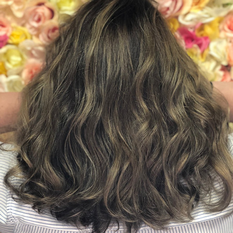 Partial highlight, haircut, blowdry and style.   Leilani Artistry Studio - Coral Springs, Florida   Broward County's best hair and makeup salon.