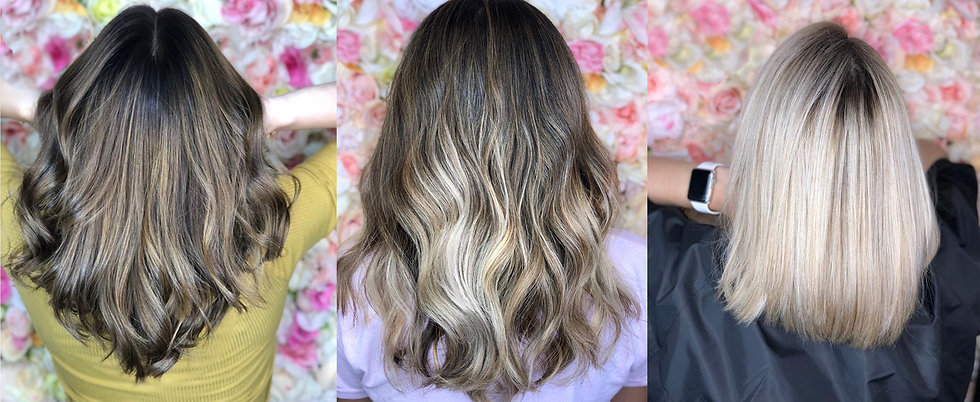 Pictures of balayage hair and blonde hair- Coral Springs Hair Salon
