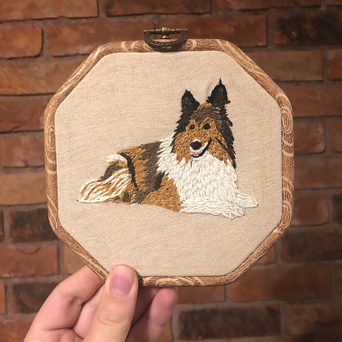 Collie Embroidery