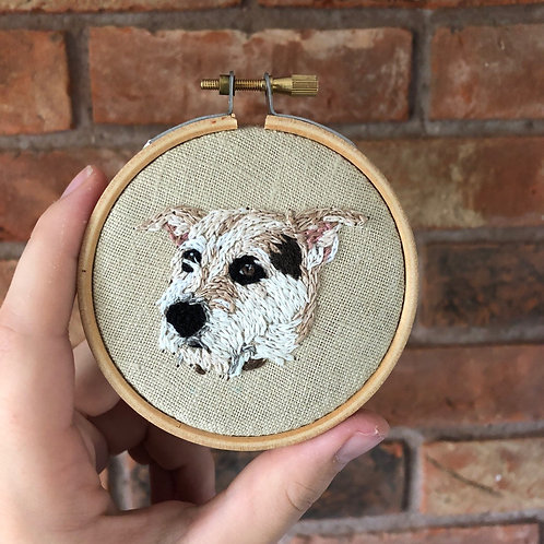 3inch Personalised Pet Embroidery wall art
