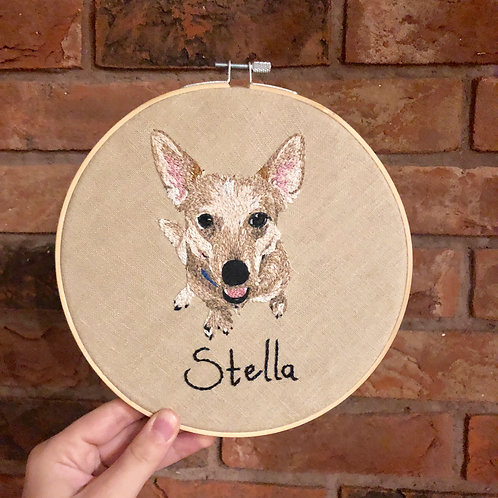 8inch Personalised Pet Embroidery