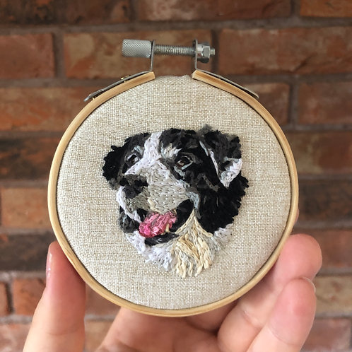 3inch Personalised Pet Embroidery