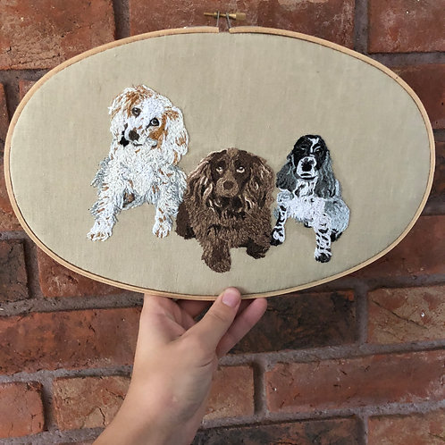 Small Oval Personalised Pet Embroidery