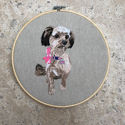 19inch Personalised Pet Embroidery wall art