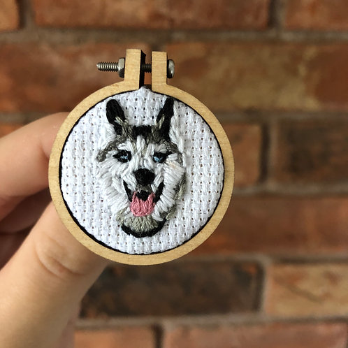 Personalised pet embroidered badge