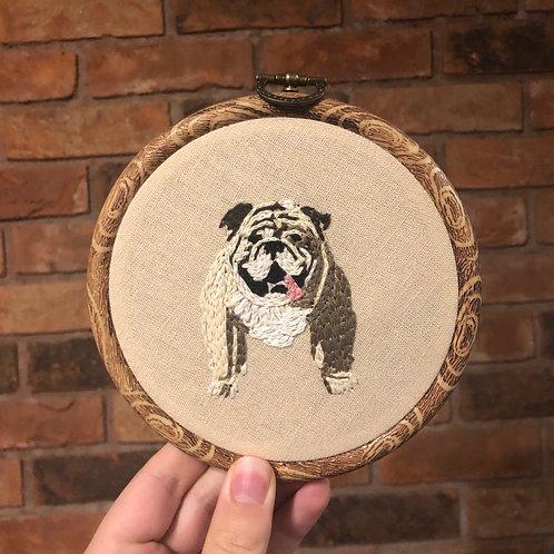 Bulldog Embroidery