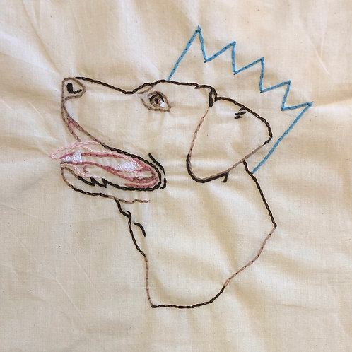 Simple Embroidered Tote bag Pet Portrait