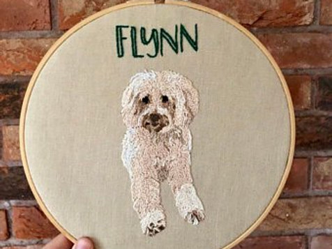 9inch Personalised Pet Embroidery