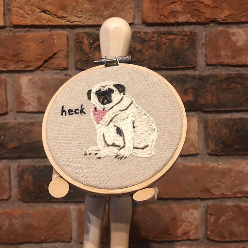 Heck Pug Embroidery