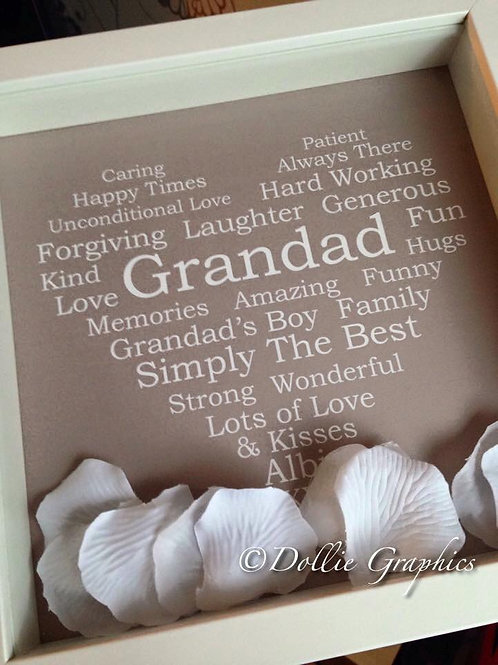 GRANDAD'S WORDART HEART