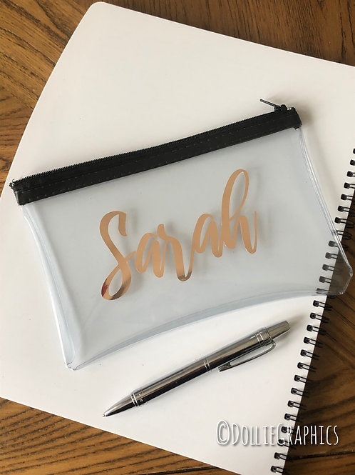 Personalised Rose Gold Pencil Case