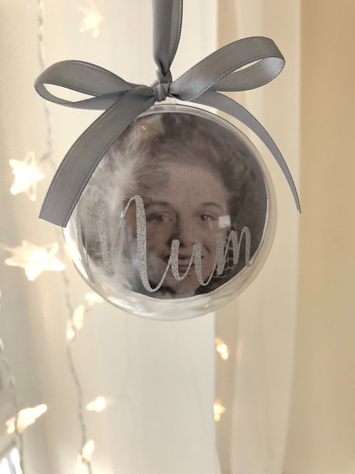 Personalised Remembrance Bauble