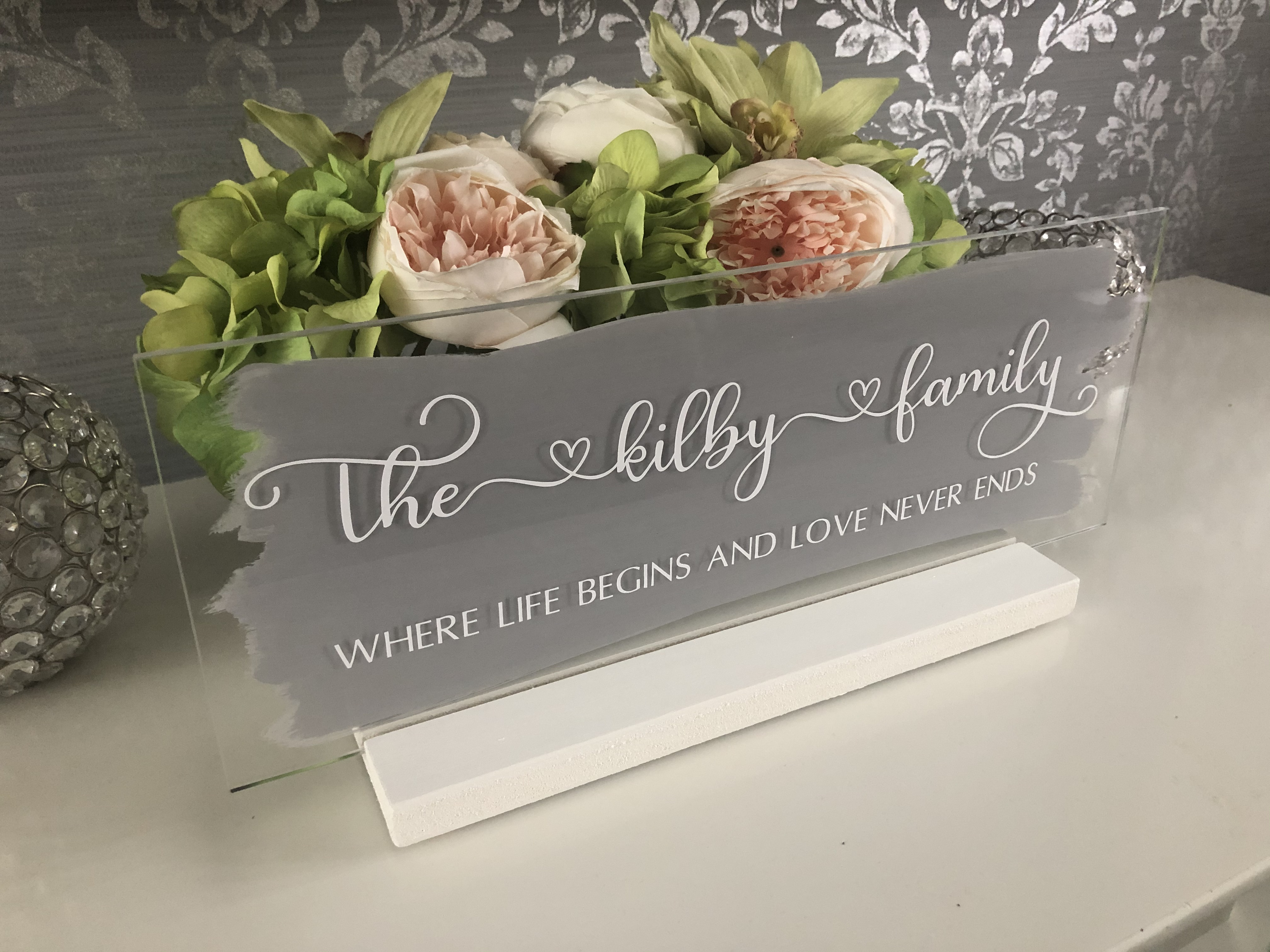 Personalised Family Name Sign