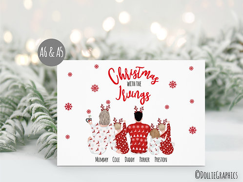 Personalised Family Chrsitmas Card