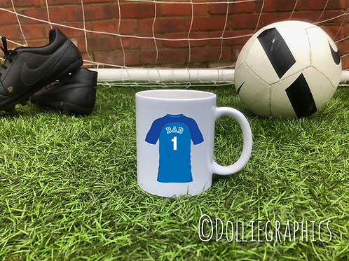 Personalised Football Shirt Cup/Mug
