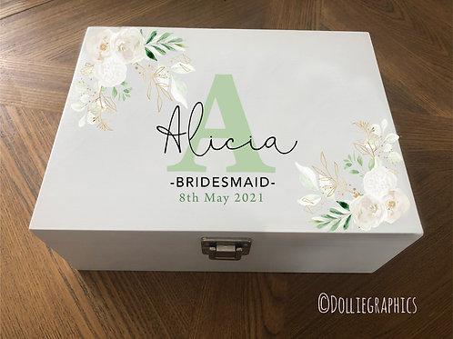 Personalised  Bridesmaid Keepsake Box