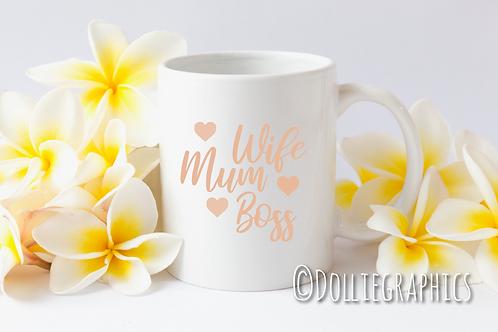 Mum Wife Boss Mug