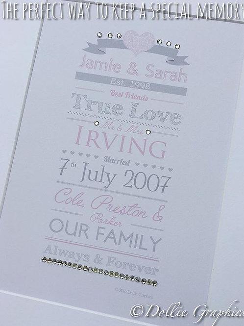 FAMILY TYPOGRAPHIC PRINT