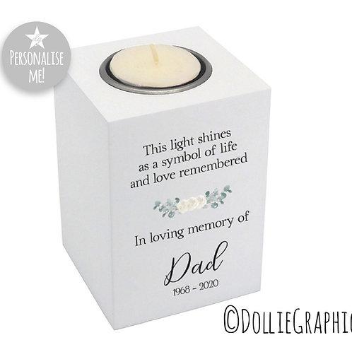 Personalised Tealight Holder - In Memory