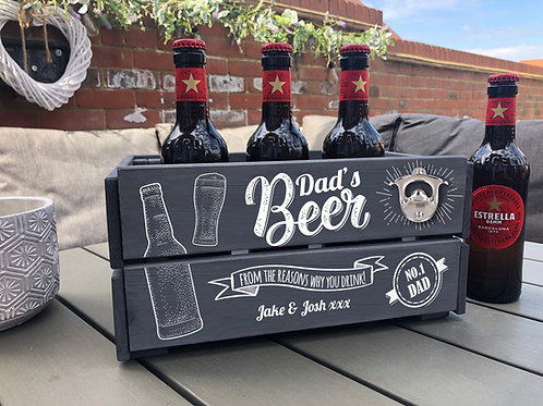 Dad's Personalised Printed Father's Day Crate