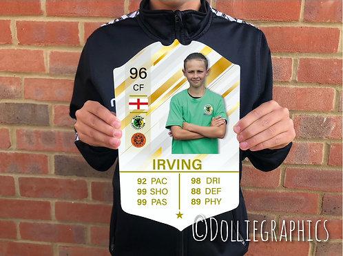 Personalised FIFA Ultimate Team (FUT) cards