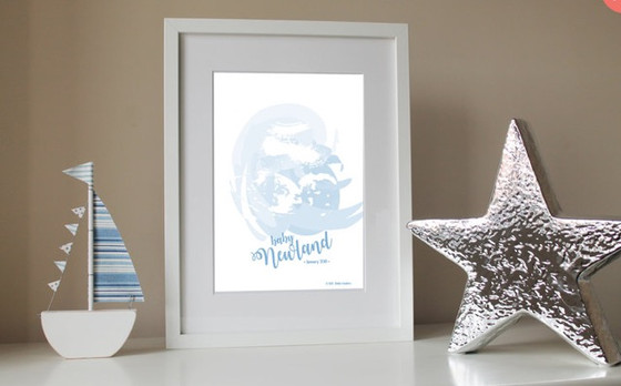 Introducing our newest design - Personalised baby scan print