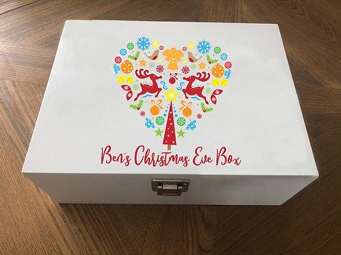 Personalised Heart Christmas Eve Box