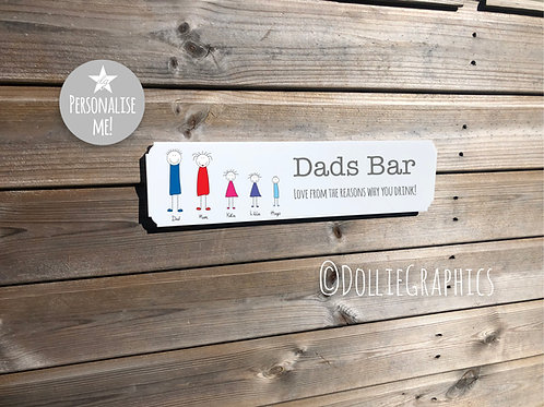 Dad's Personalised Bar Sign
