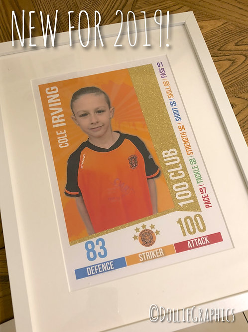 Personalised Match Attax Style Print