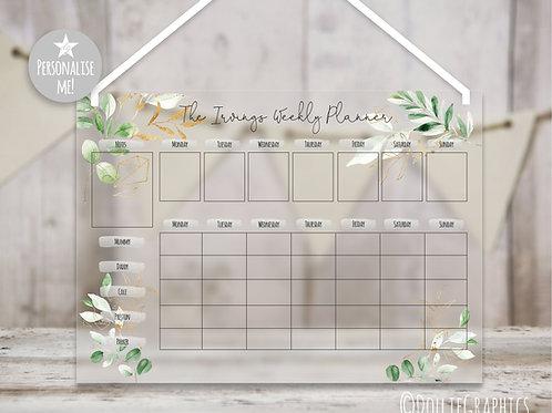 Personalised Family Planner - Eucalyptus