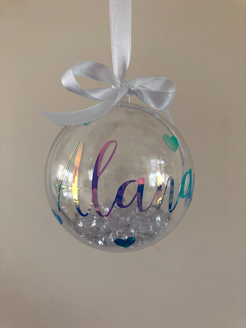 Personalised Hearts Bauble