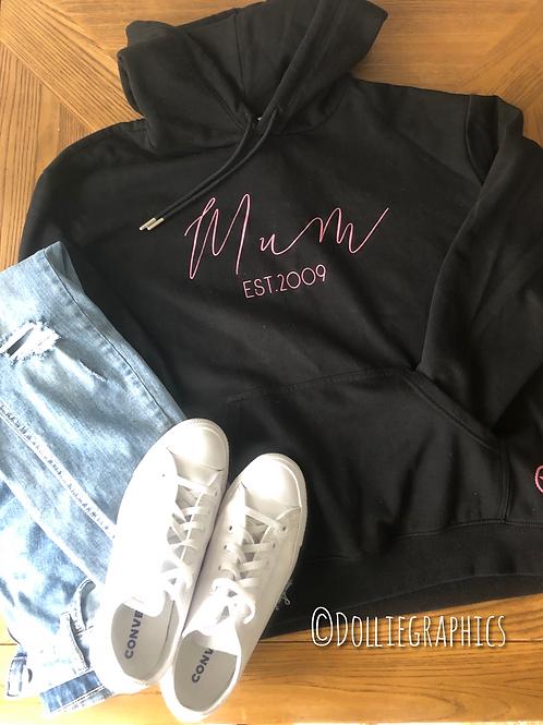 Personalised Mum EST hoodie