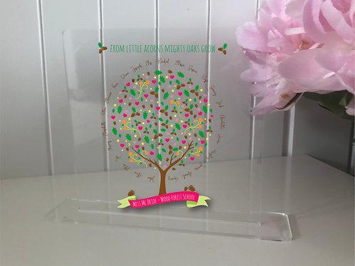 Personalised Teachers Oak Tree Plaque