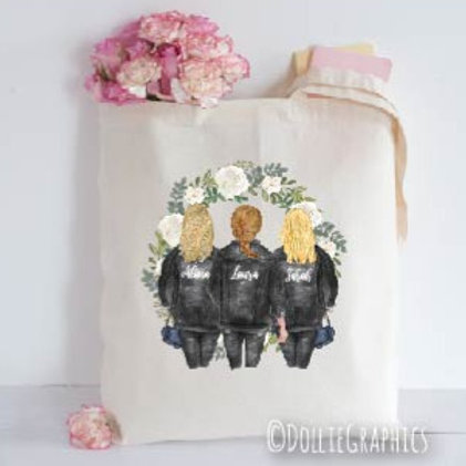 Personalised Sister Friend Tote Bag